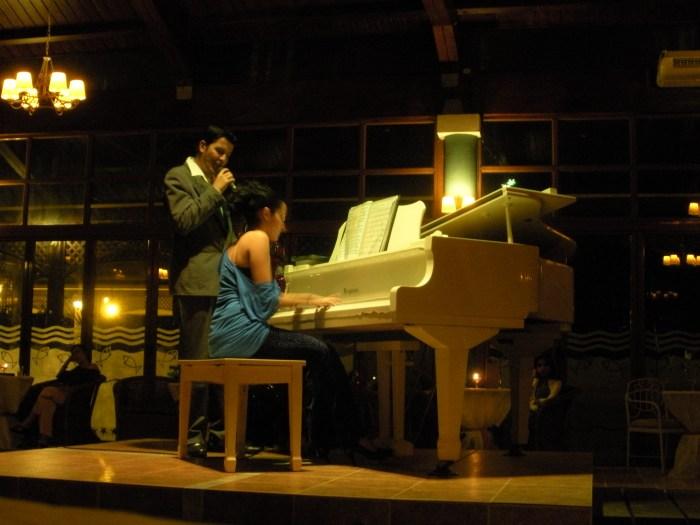Lounge singers at Sol Cayo Santa Maria resort, Cuba