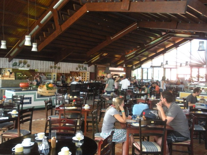 Main dining hall at Sol Cayo Santa Maria resort, Cuba