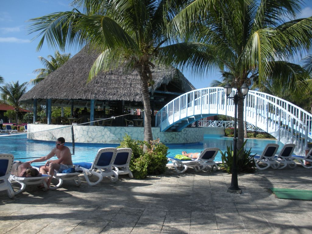 Pool area at Sol Cayo Santa Maria resort, Cuba