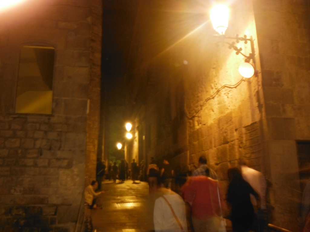 Gothic Quarter Barcelona by night