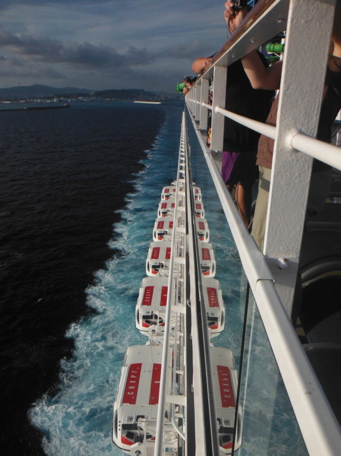 larkycanuck.com | Travel Adventures | Norwegian Cruise Line (NCL) | View from the deck