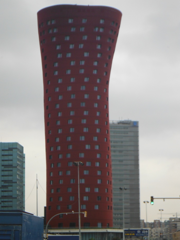 Modern Architecture Building in Barcelona