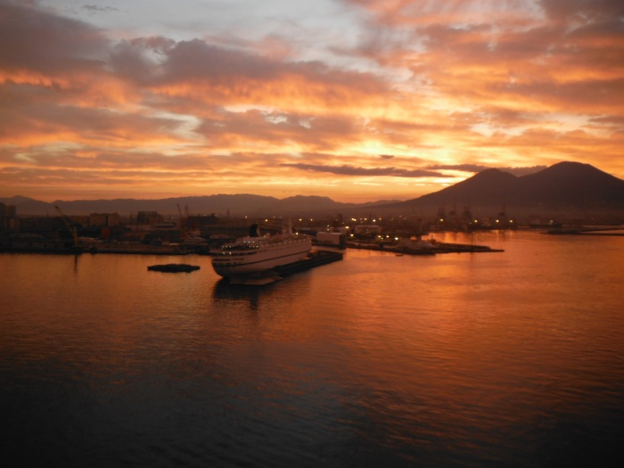 Captured this early dawn image at the Napoli Port from the Norwegian EPIC