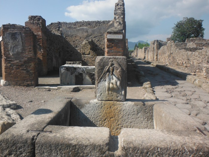 Common meeting place at the centralized ''piped'' water well during ancient times