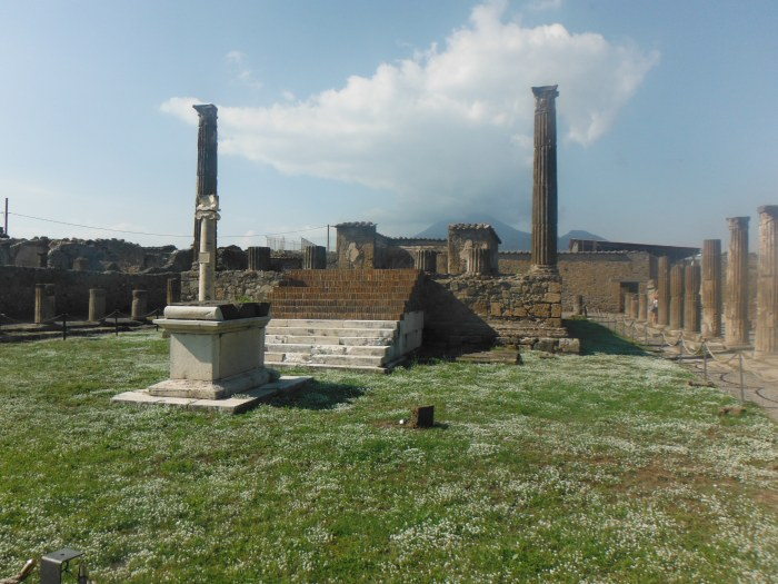 Ceremonial Altar in ruins of ancient Pompeii City