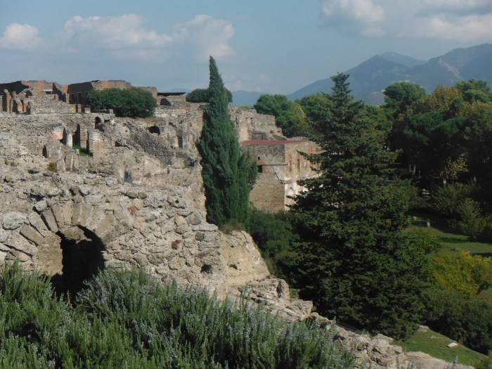 Eastern Gates and Wall of ancient Pompeii City