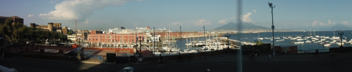 Panoramic view of Napoli (Naples) port