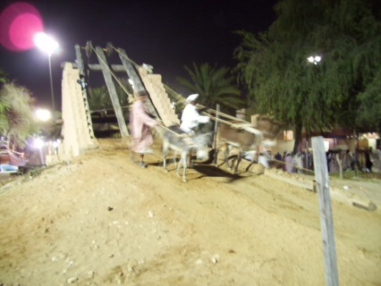 This is how water is extracted from underground wells for irrigation in the desert
