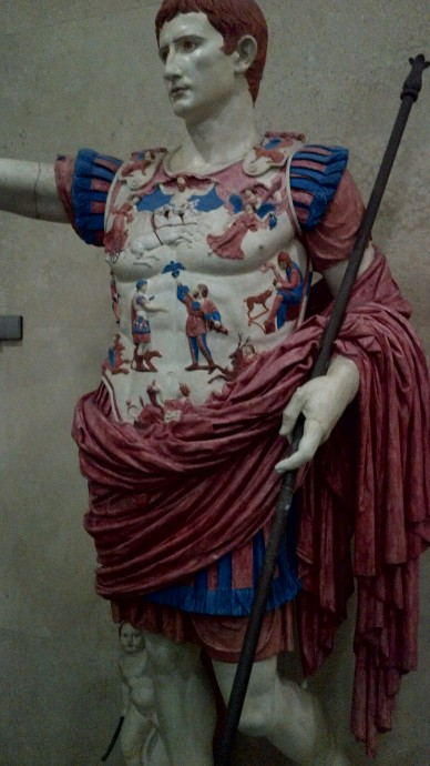 "Ancient statues actually were in technicolor! We seem that as plain today because over centuries the color has eroded. Do you know how the Romans created the dye? From human urine! They taxed urine for the ammonia content and thus urine was precious for its color producing capacity. So term arose ""money stinks""!"
