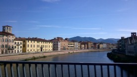 Spectacular view of Florence's Arno River drive. The Medici family was the most powerful back then. However no survivors left today due to inbreeding. Too bad they did not get to watch the American horror slasher flick Wrong Turn
