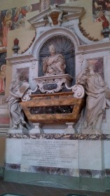 Tomb of Galileo inside Basilica of Santa Croce {Money Saving Tip: It is FREE! And all major historic people of Italy you read about growing up are buried here. Must see}