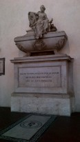 Tomb of Nicolai Machiavelli inside Basilica of Santa Croce {Money Saving Tip: It is FREE! And all major historic people of Italy you read about growing up are buried here. Must see}