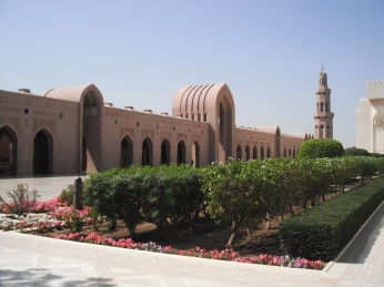 The famous Grand Mosque in Al-Ghubra, Oman