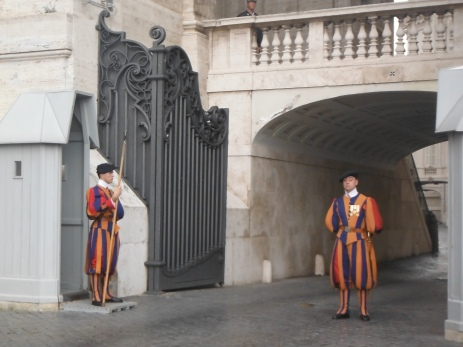 Vatican City guards on duty