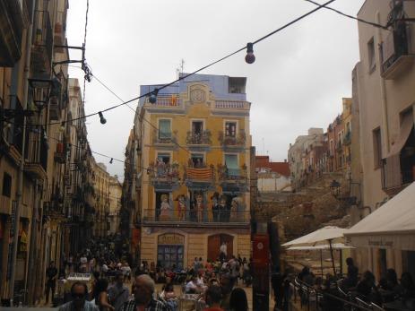 Famous Santa Tecla Festival on streets of Tarragona, Catalonia