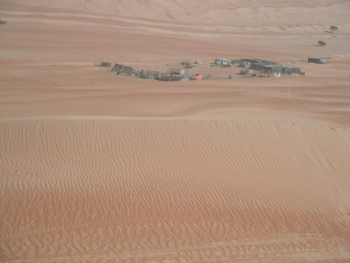 A real Bedouin camp in the middle of the Desert (Wahiba Sands)