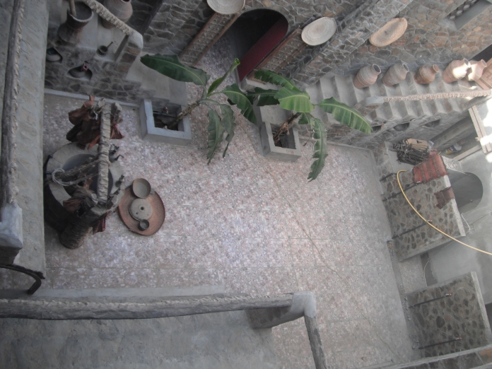 Interior courtyard of an ancestral Omani house