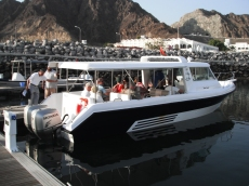 Dolphin watching boat departs from Muscat Marina