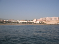 Hotel resort built along the shore