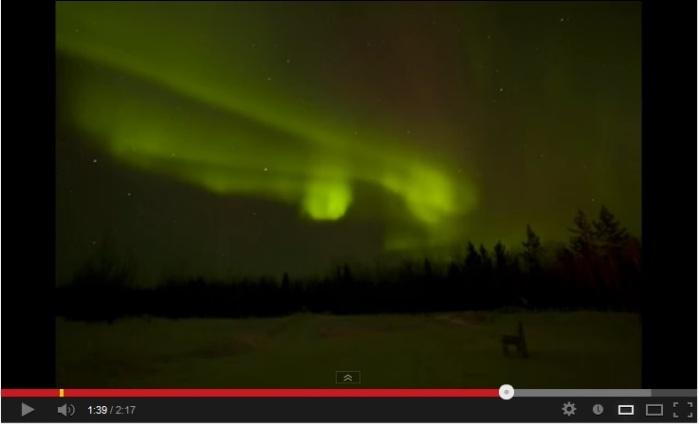 video aurora borealis northern lights